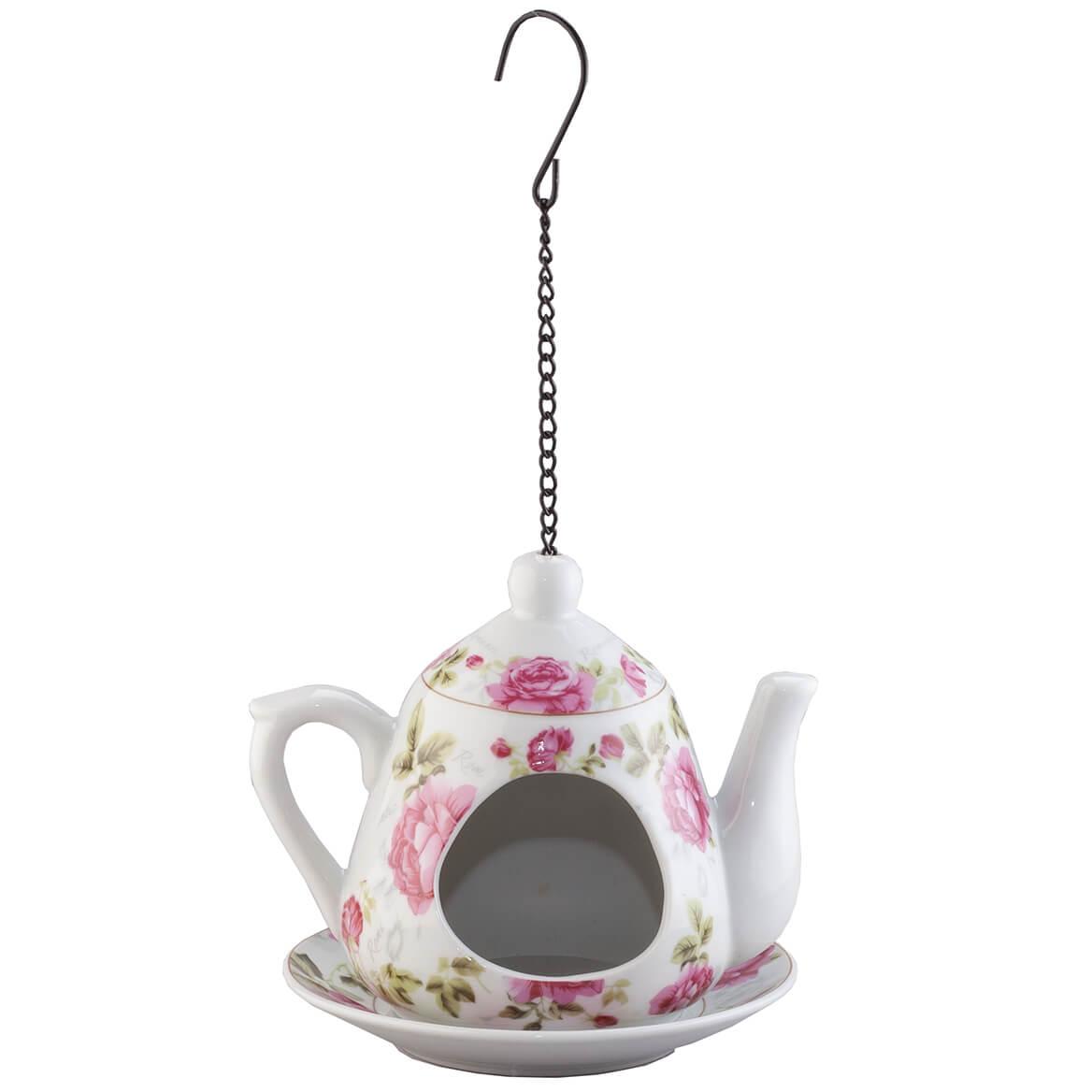 Ceramic Teapot Bird Feeder