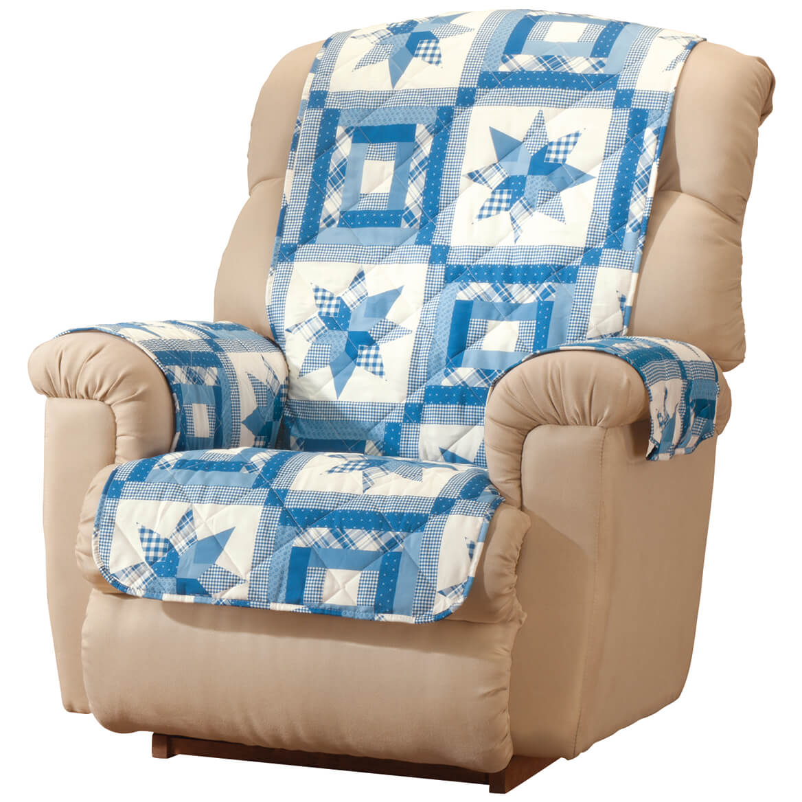 Star Quilt Print Recliner Chair Cover
