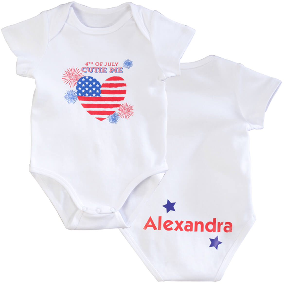 Personalized 4th of July Cutie Pie Onesie