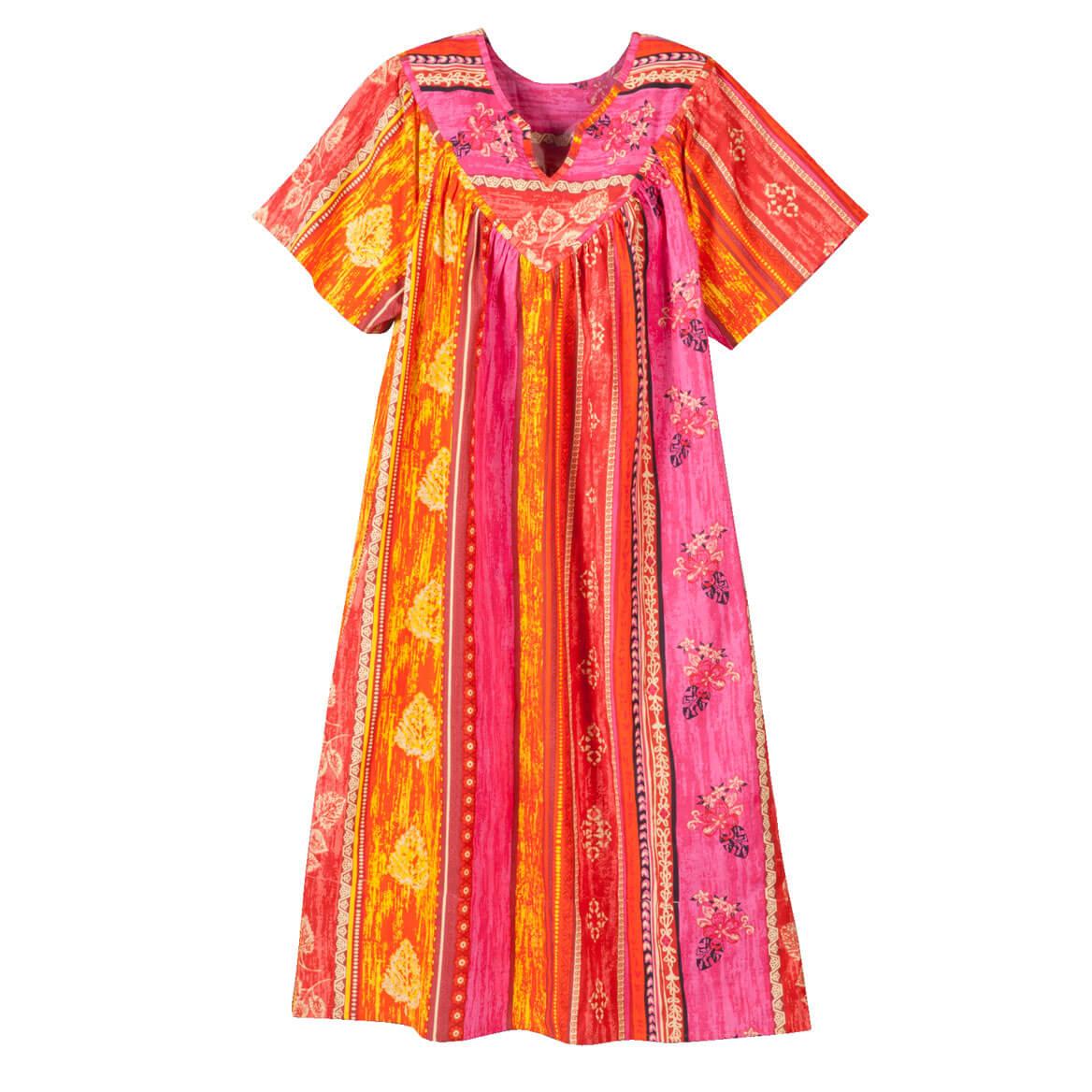 Split V-Neck Mid-Length Dress