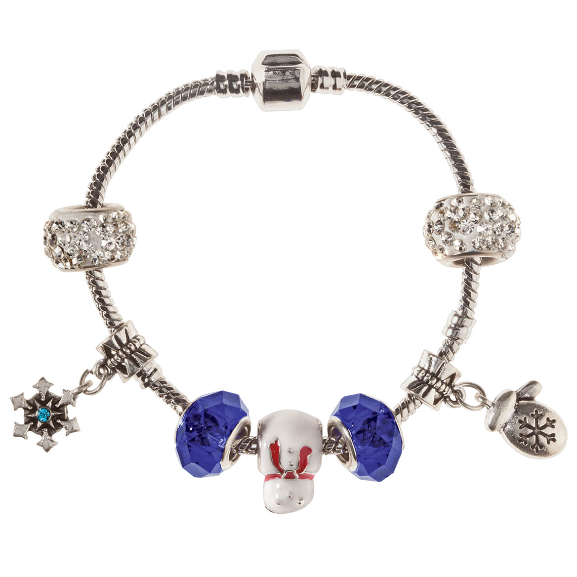 Winter Wonderful Stainless Steal Charm Bracelet