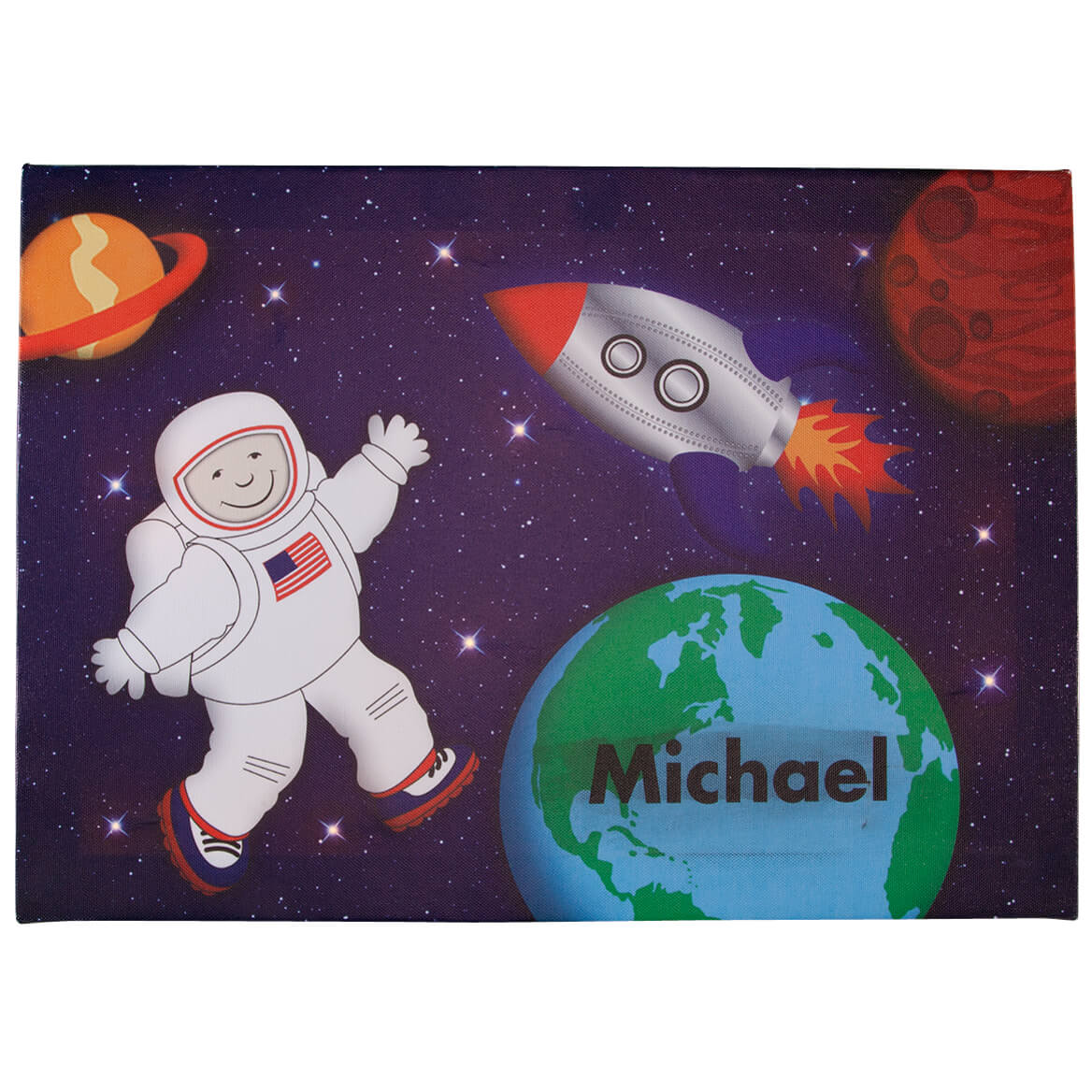 Personalized Lighted Astronaut Canvas