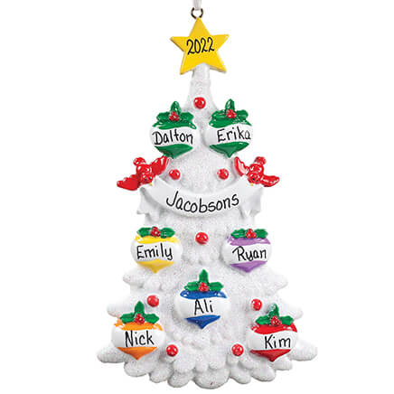 Personalized White Glitter Tree Ornament-355741 ... - Personalized Granddaughter Ornament - Christmas - Miles Kimball