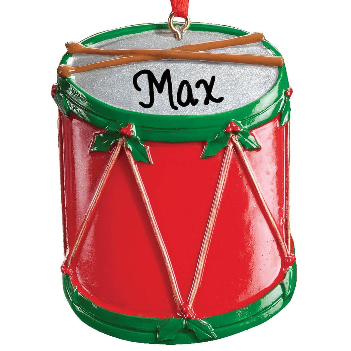 Christmas Drum.Personalized Christmas Drum Ornament