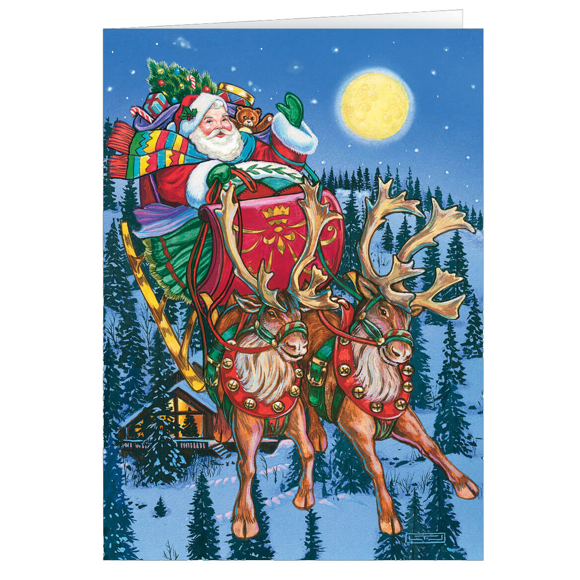 Personalized In Flight Christmas Card Set of 20-355991
