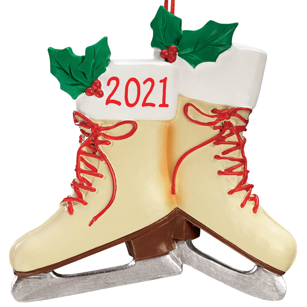 Personalized Vintage Ice Skates Ornament