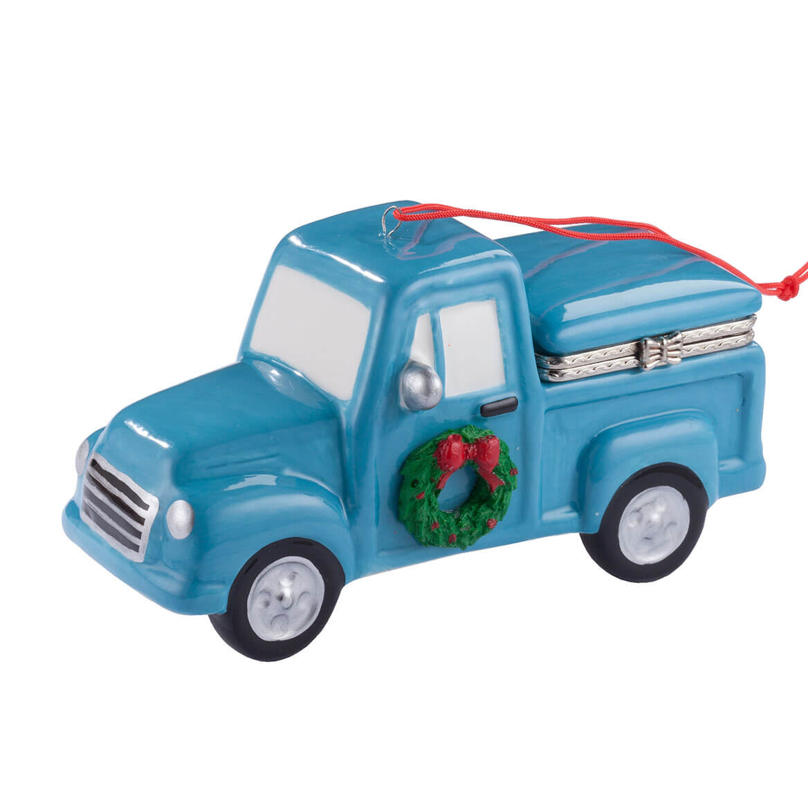 Vintage Truck with Tree Trinket Box