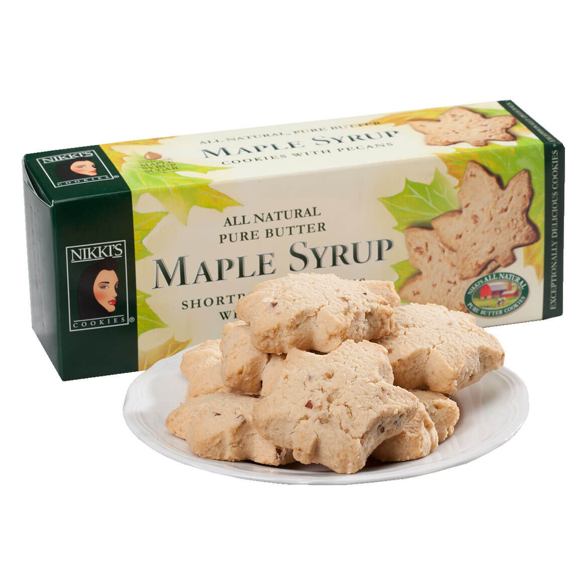Pure Butter Maple Syrup Shortbread Cookies with Pecans, 5.7