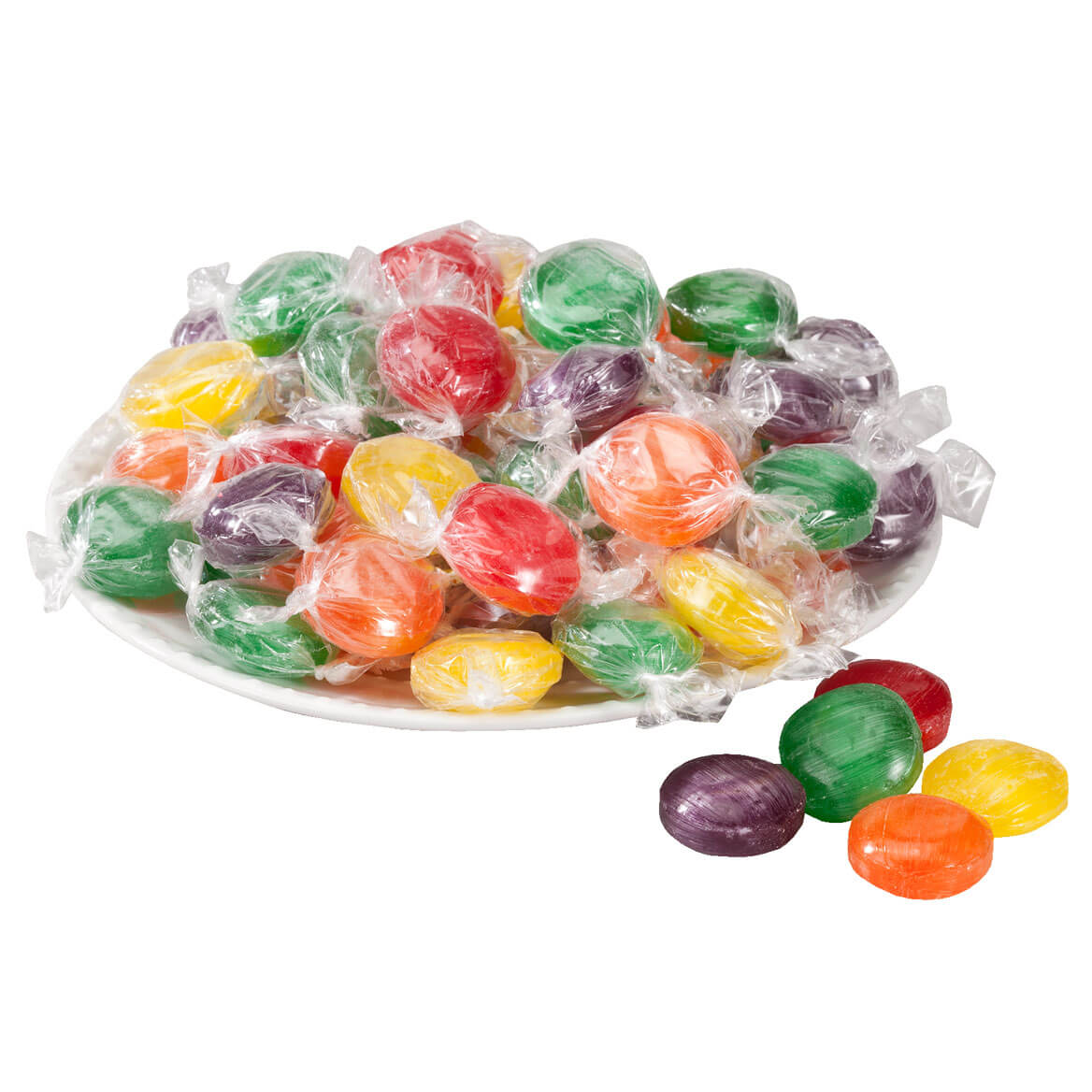 Assorted Fruit Button Hard Candies 19 oz.