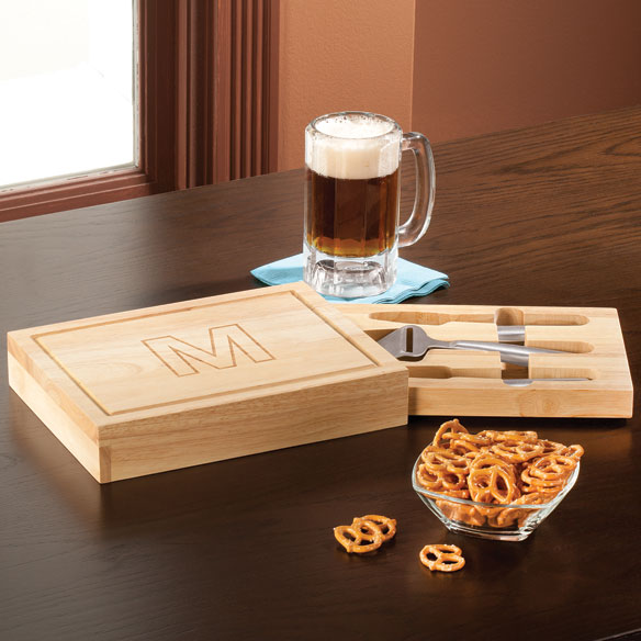 Personalized Rectangular  Cheeseboard with Tools