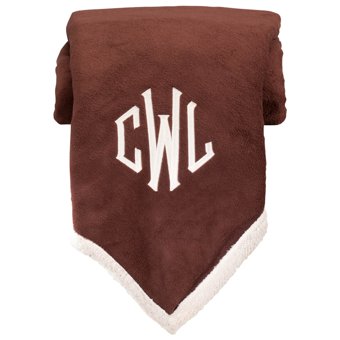 Personalized Ultra Plush Sherpa Throw by OakRidge™