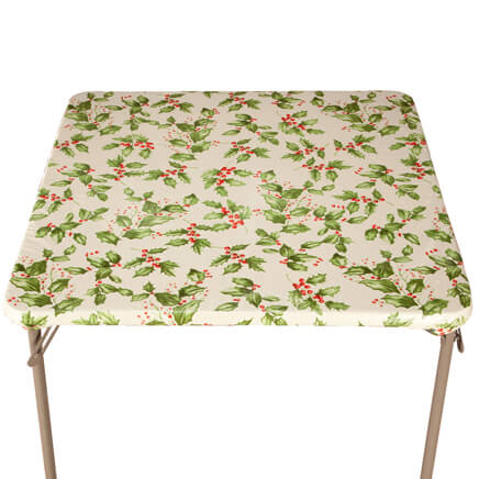 Beau Holly Leaf Vinyl Elasticized Tablecovers 356719