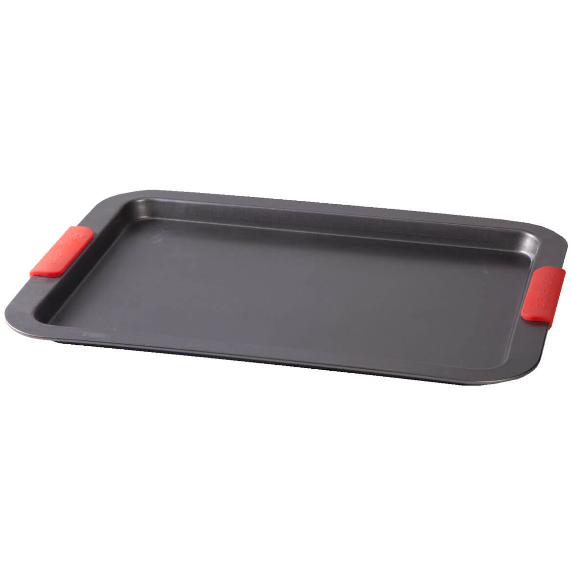 Large Baking Sheet with Red Silicone Handles by HSK-356753