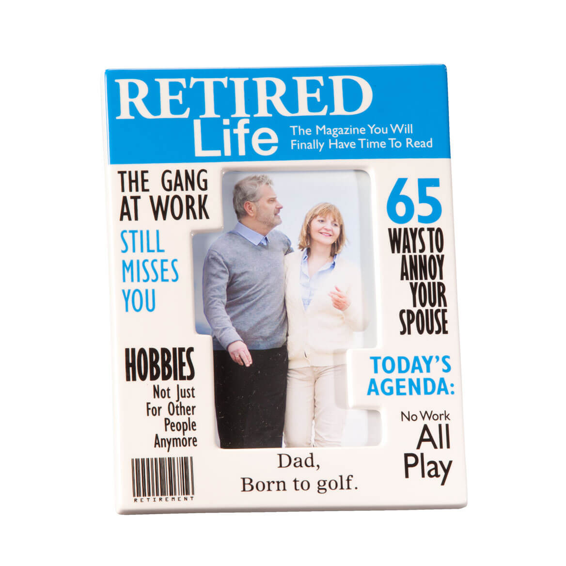 Personalized Really Great News Retirement Frame