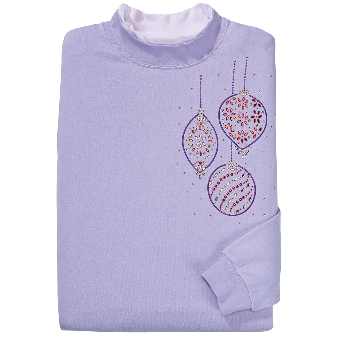 Rhinestone Hanging Ornaments Sweatshirt