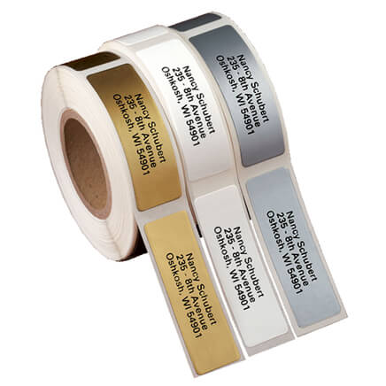 gold return address labels miles kimball