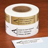Bold Initial Address Labels - Set of 200, Gold
