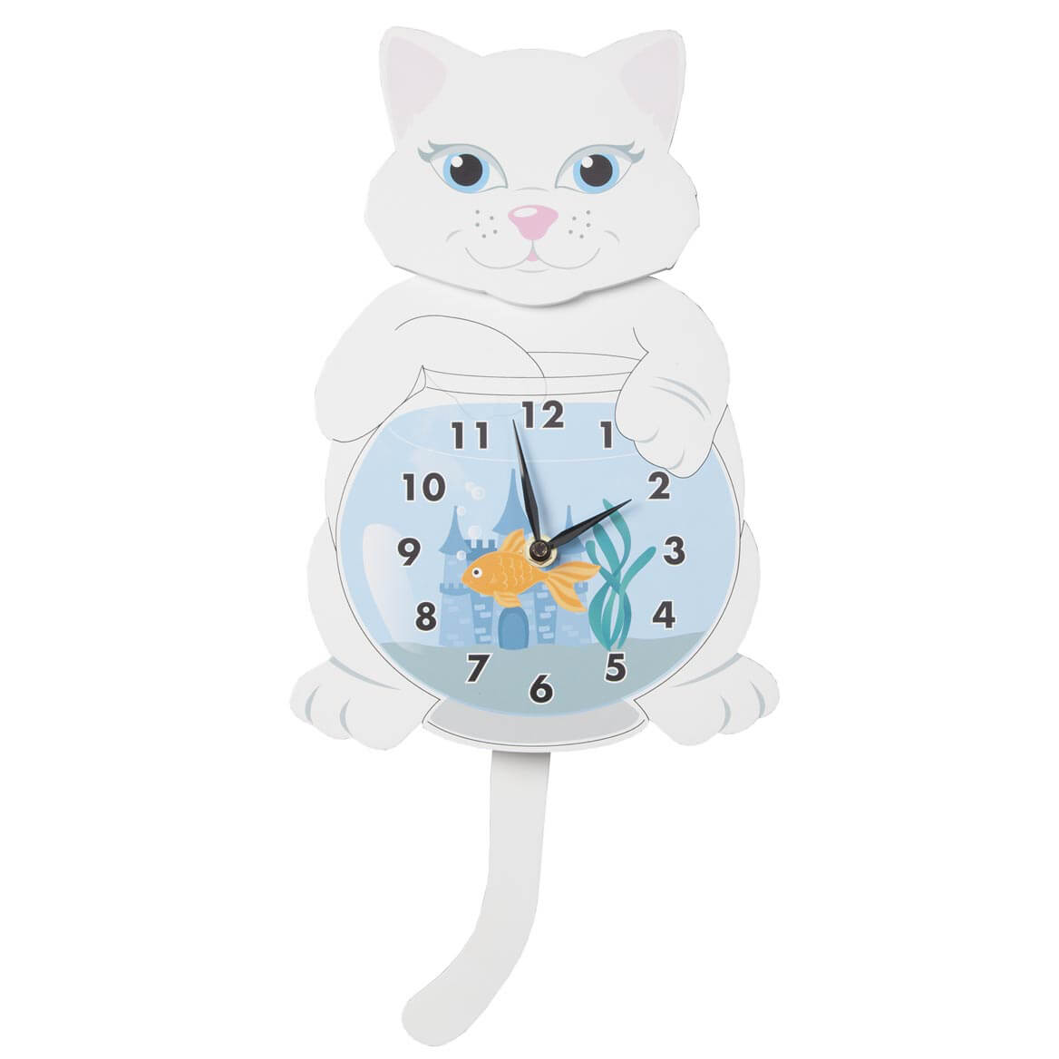 Cat Clock with Moving Tail by OakRidge™