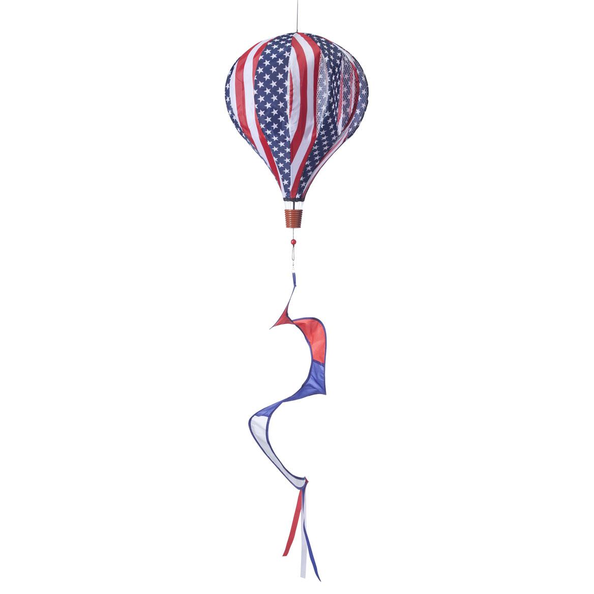 Patriotic Hot Air Balloon Wind Spinner