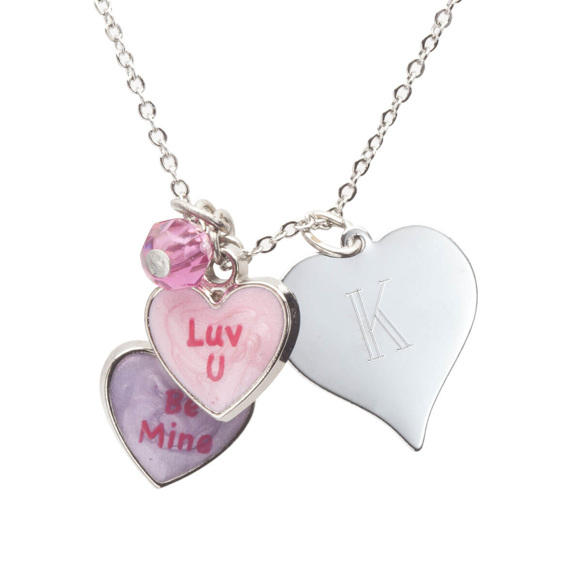 Personalized Valentine's Day Luv U Necklace