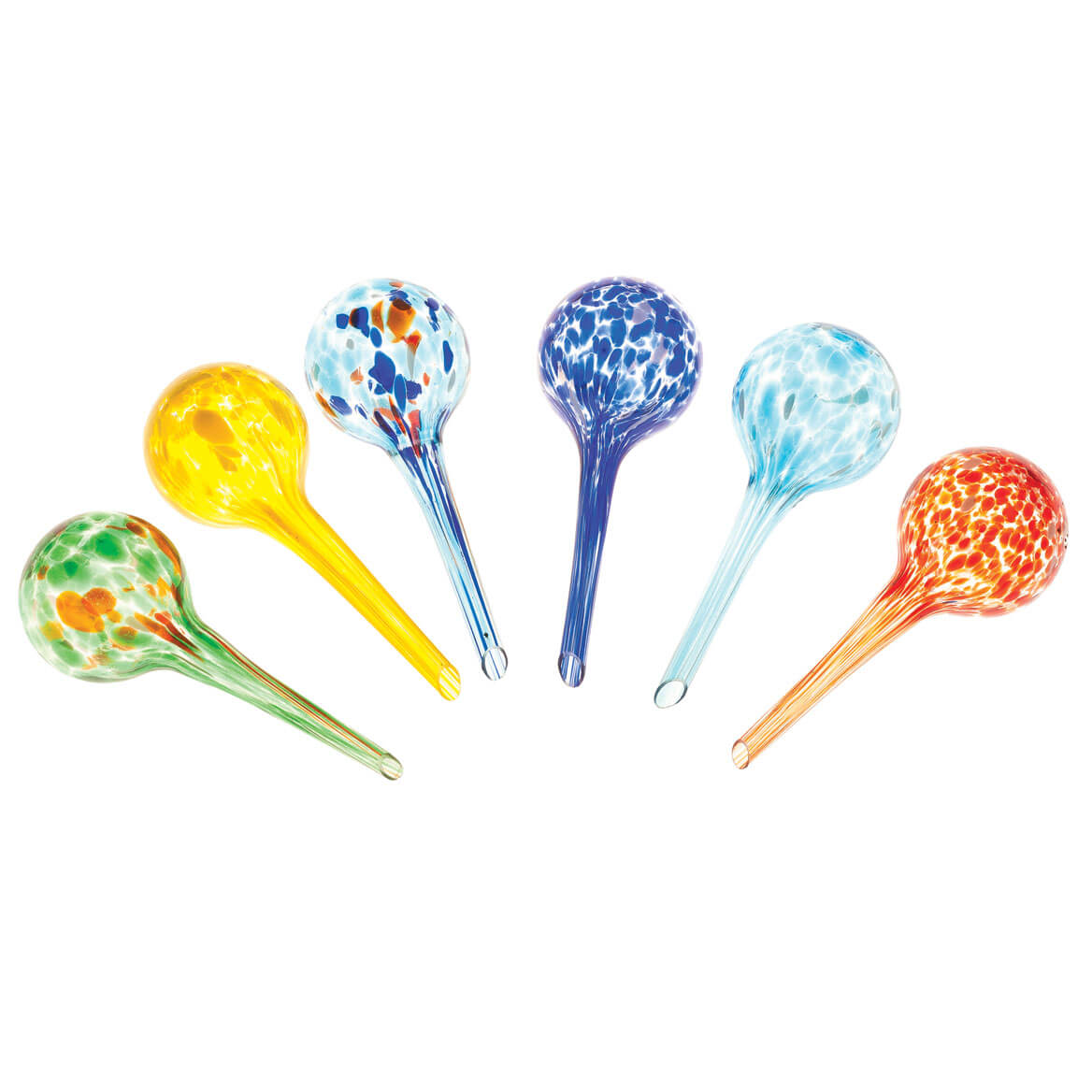 Glass Watering Globes, Set of 6