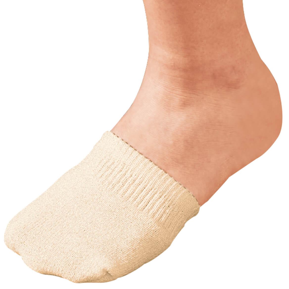 Toe Half Socks 2 Pair - Natural