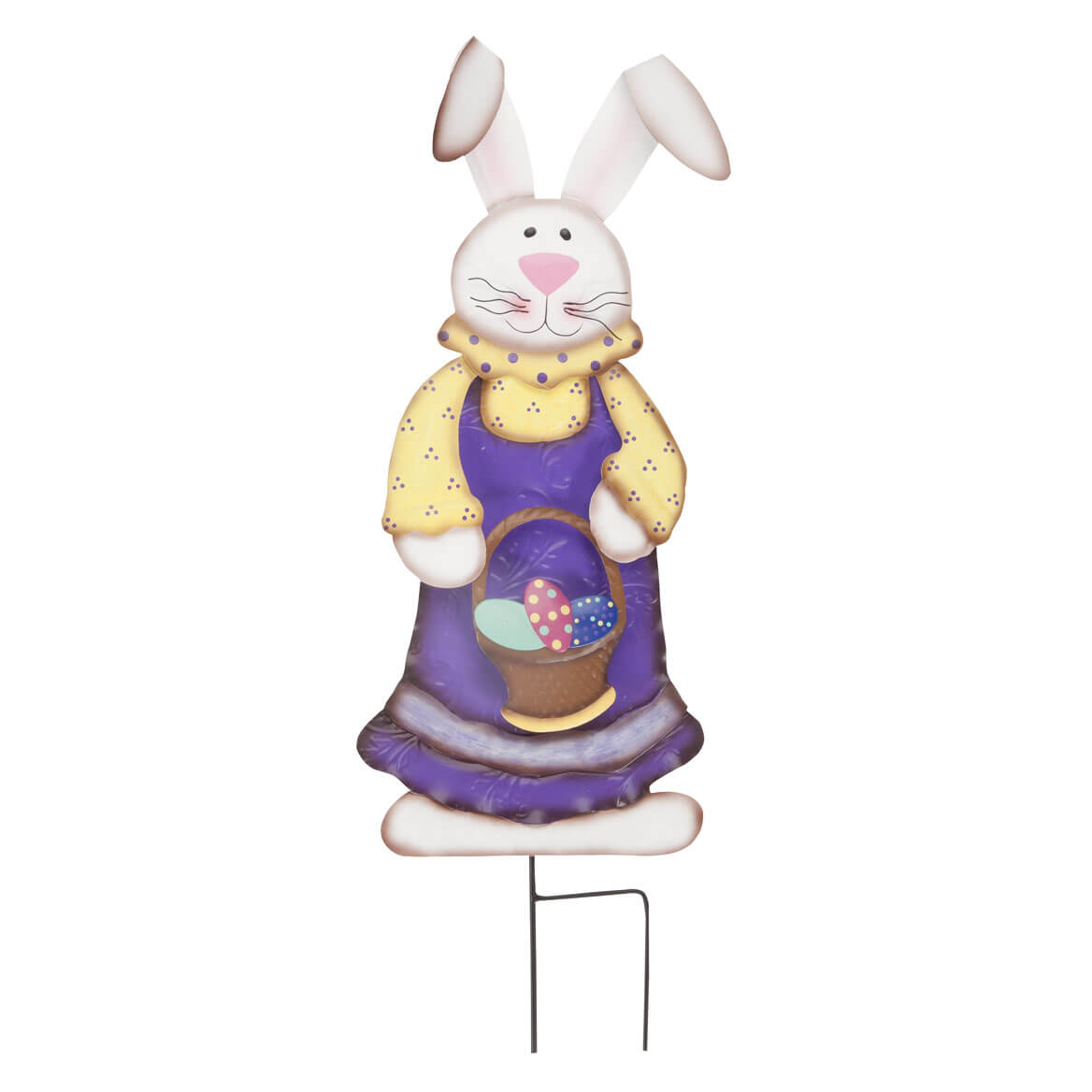 Metal Easter Bunny Girl Stake by Fox River Creations™-358203