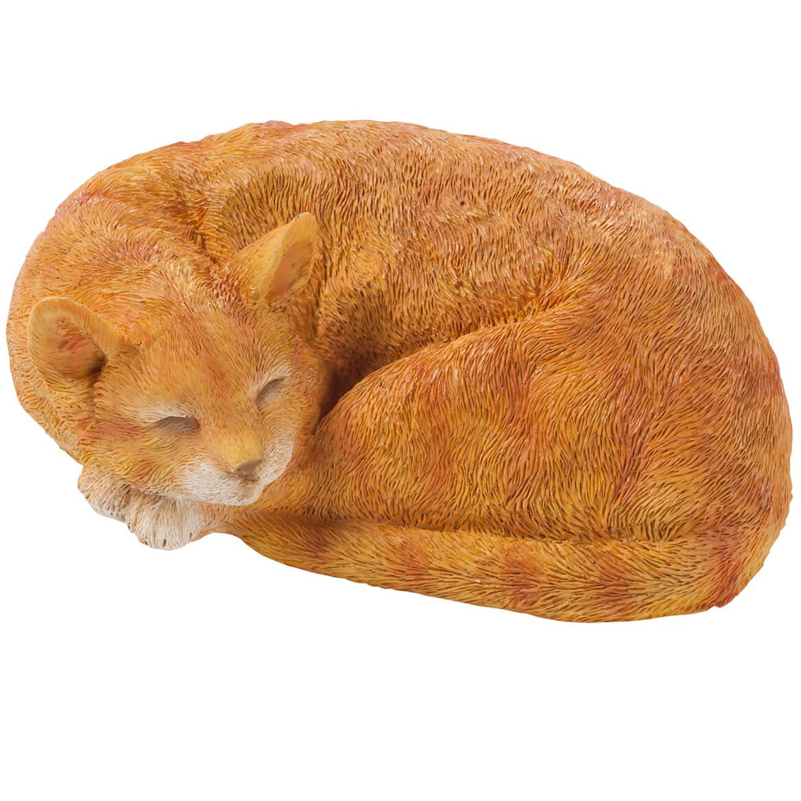 Resin Sleeping Cat Statue