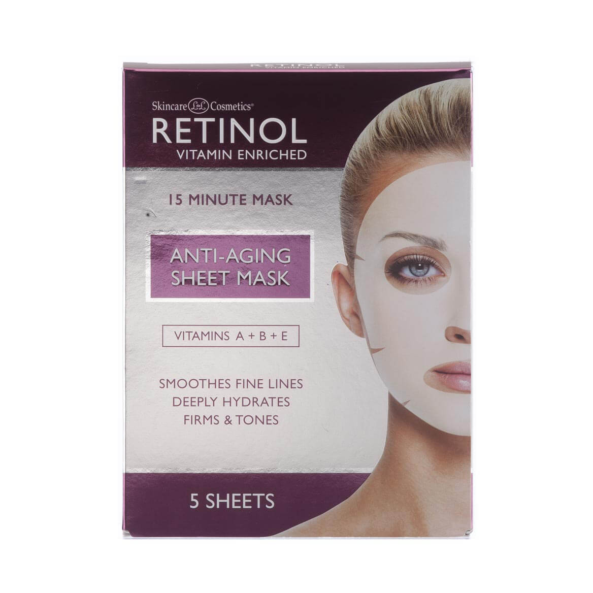 Skincare Cosmetics® Retinol Anti-Aging Sheet Masks Set/5