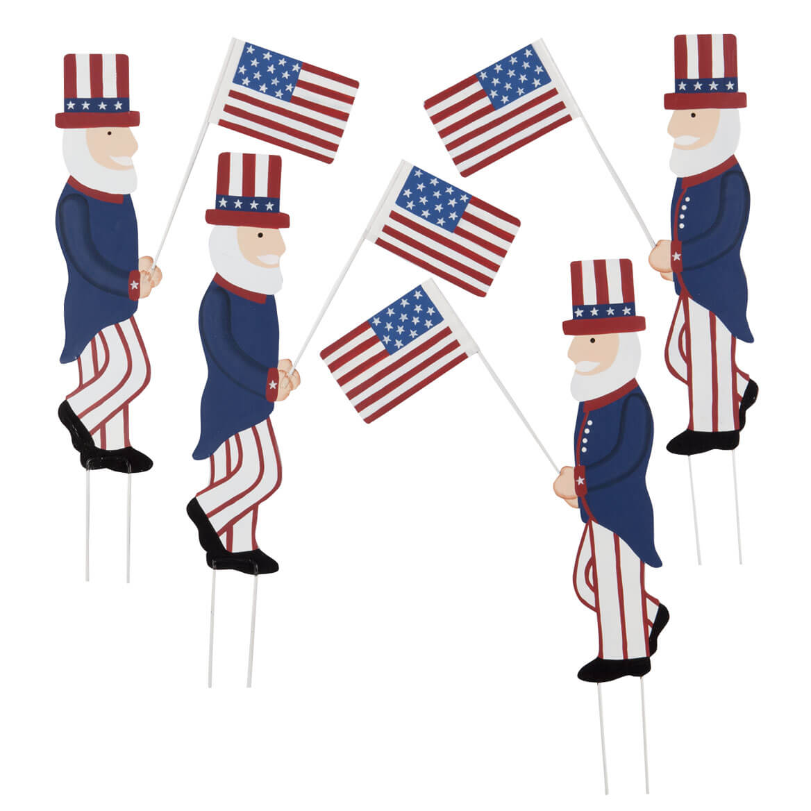Uncle Sam Metal Yard Stakes, Set/4 by Fox River Creations™-358763