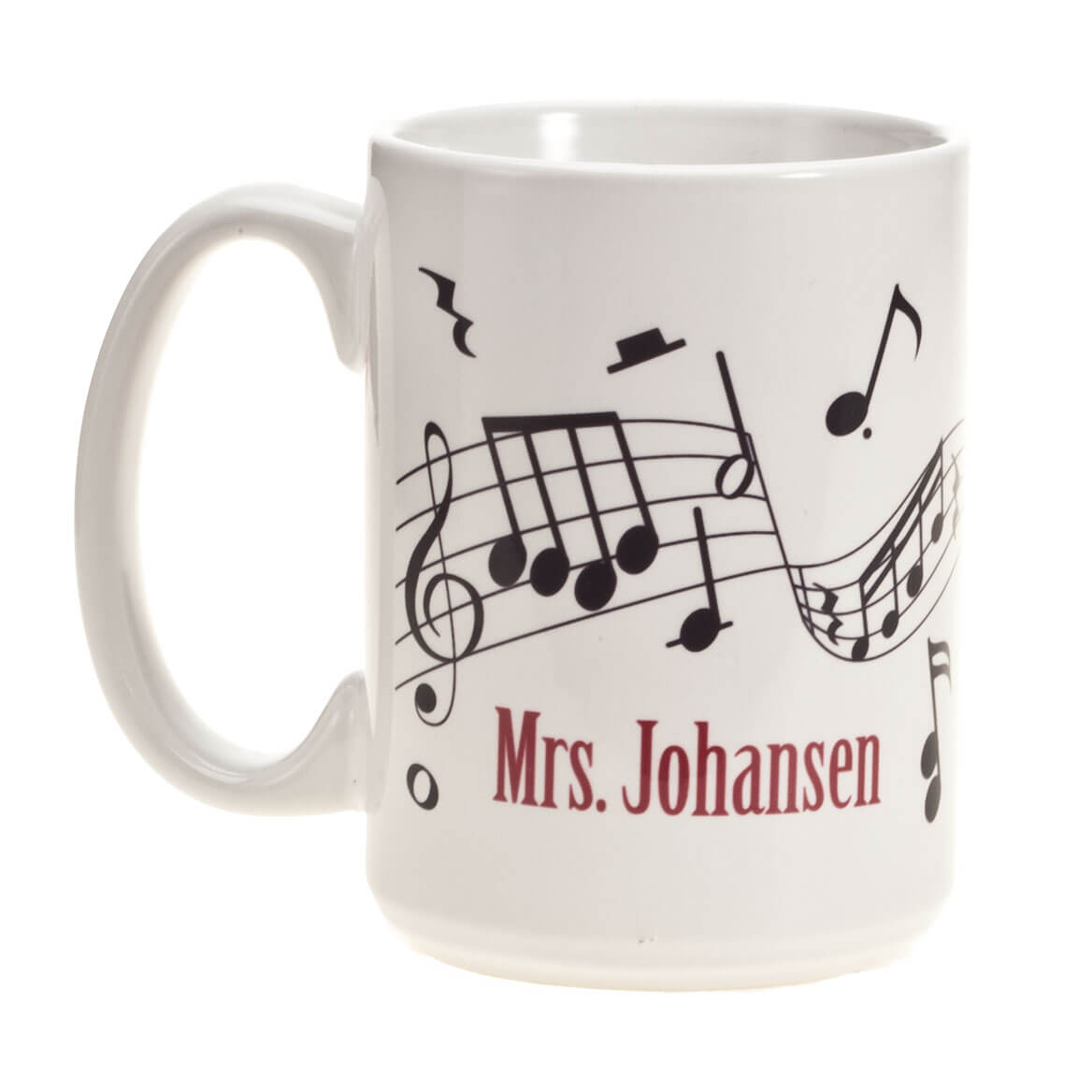 Personalized Musical Notes Mug