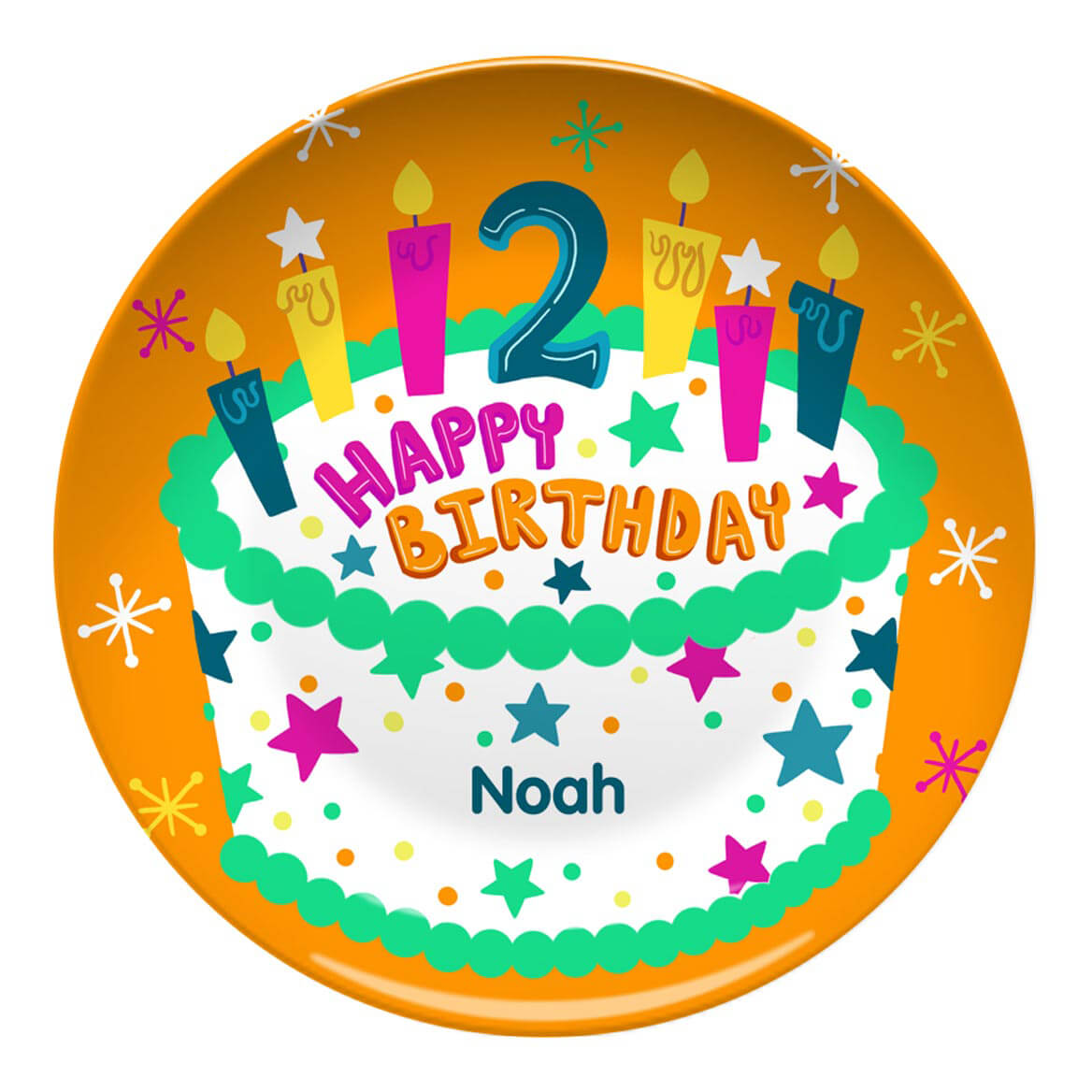 Personalized Happy 2nd Birthday Plate
