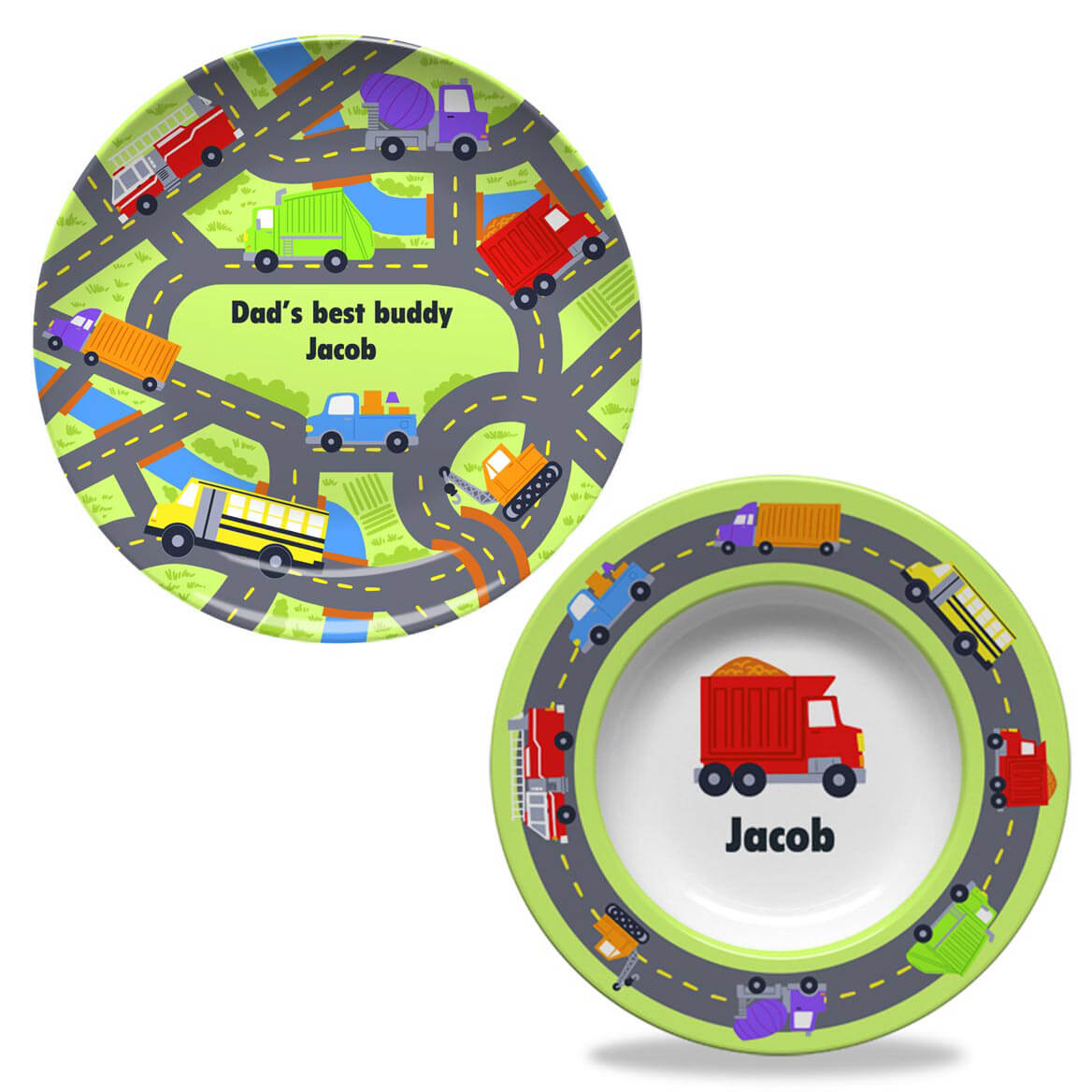 Personalized Road Trip Plate and Bowl