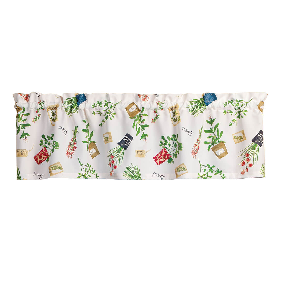 Potted Herbs Valance by OakRidge™ Kitchen Gallery