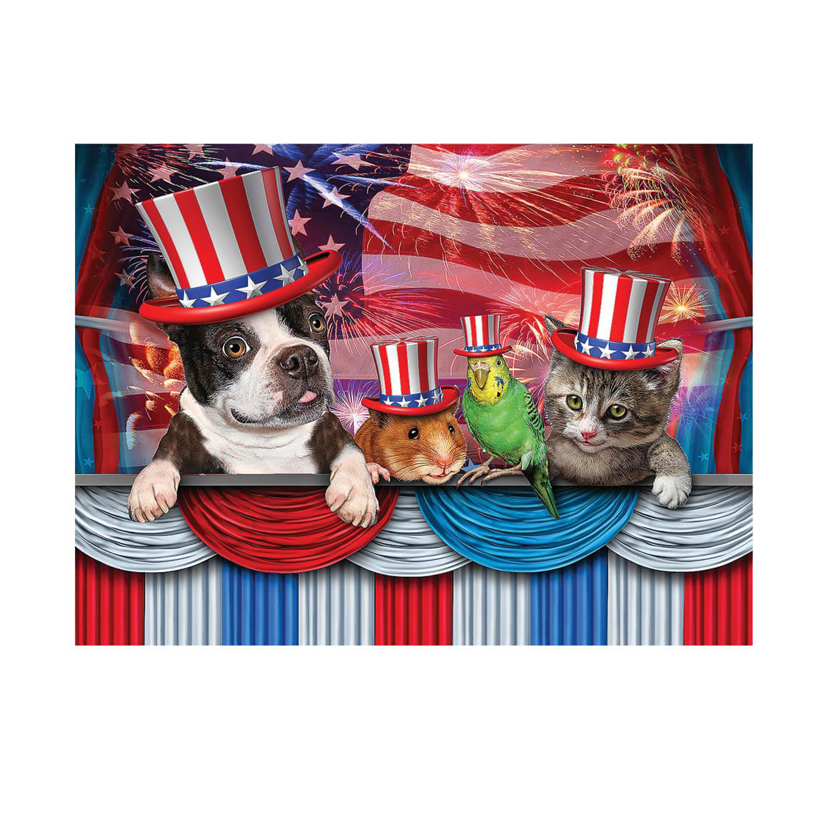 Pets Love America Puzzle 1000 Pieces
