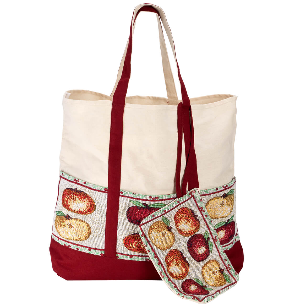 Personalized Harvest Tapestry Tote with Wristlet