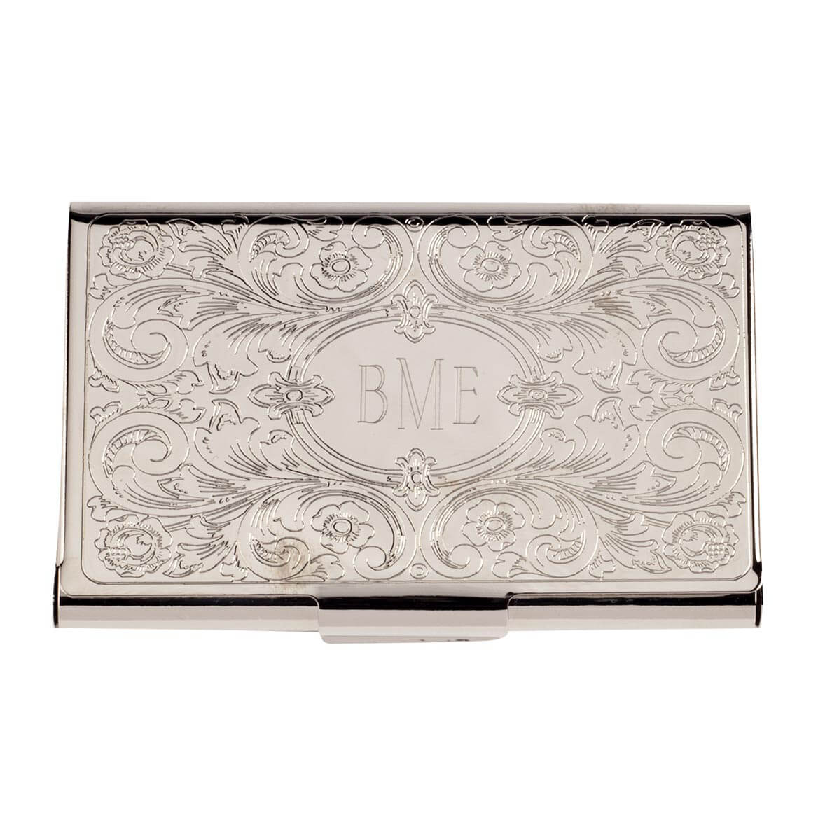 Monogrammed Embossed Business Card Case