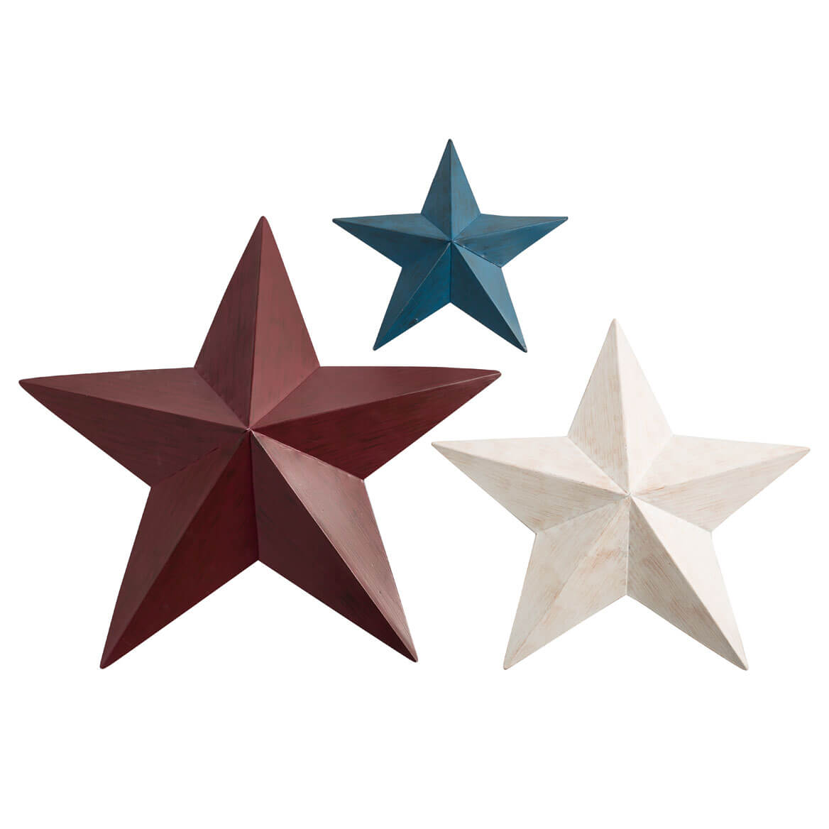 Red, White, Blue Barn Stars, Set/3 by Maple Lane Creations™