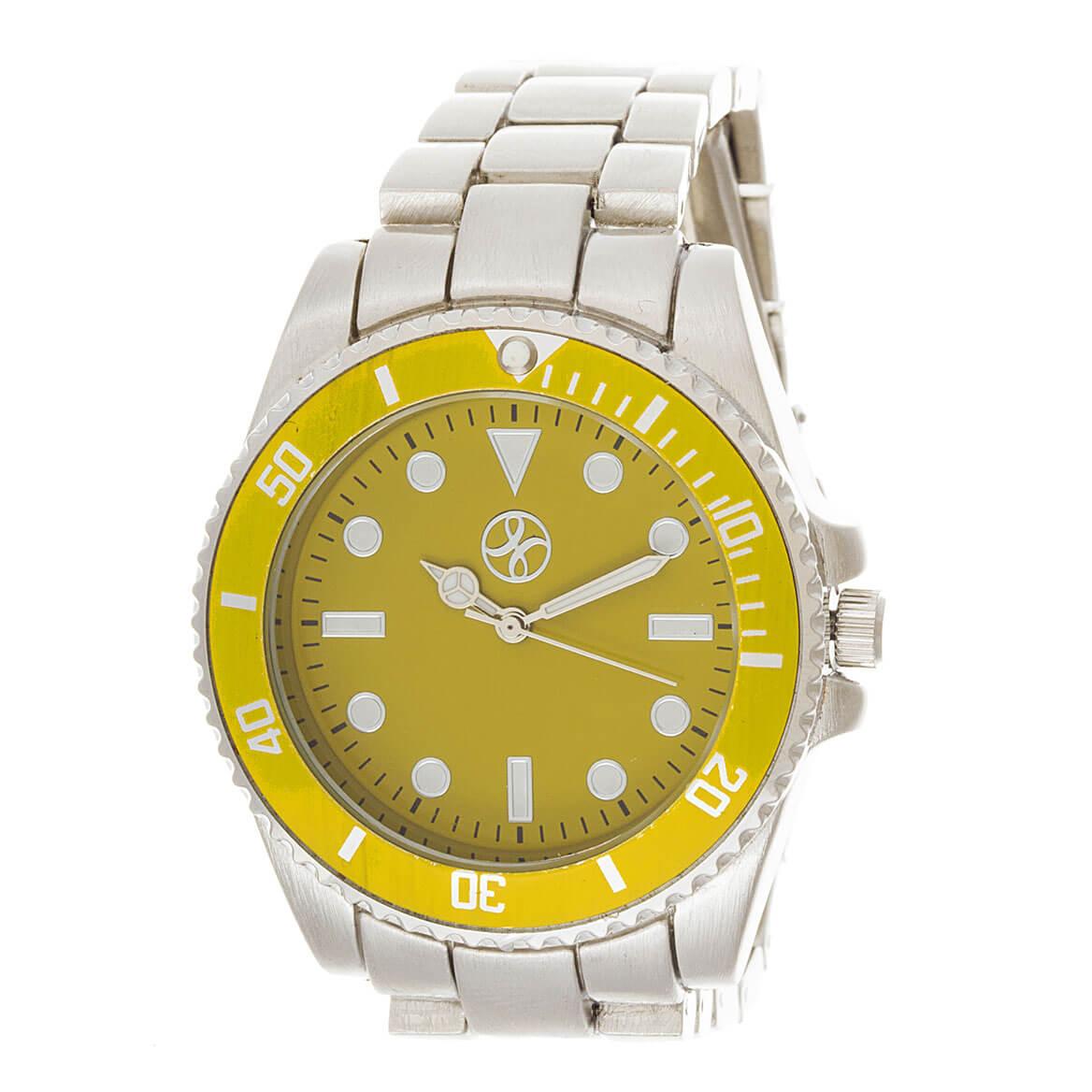 Yellow Face Analog Watch
