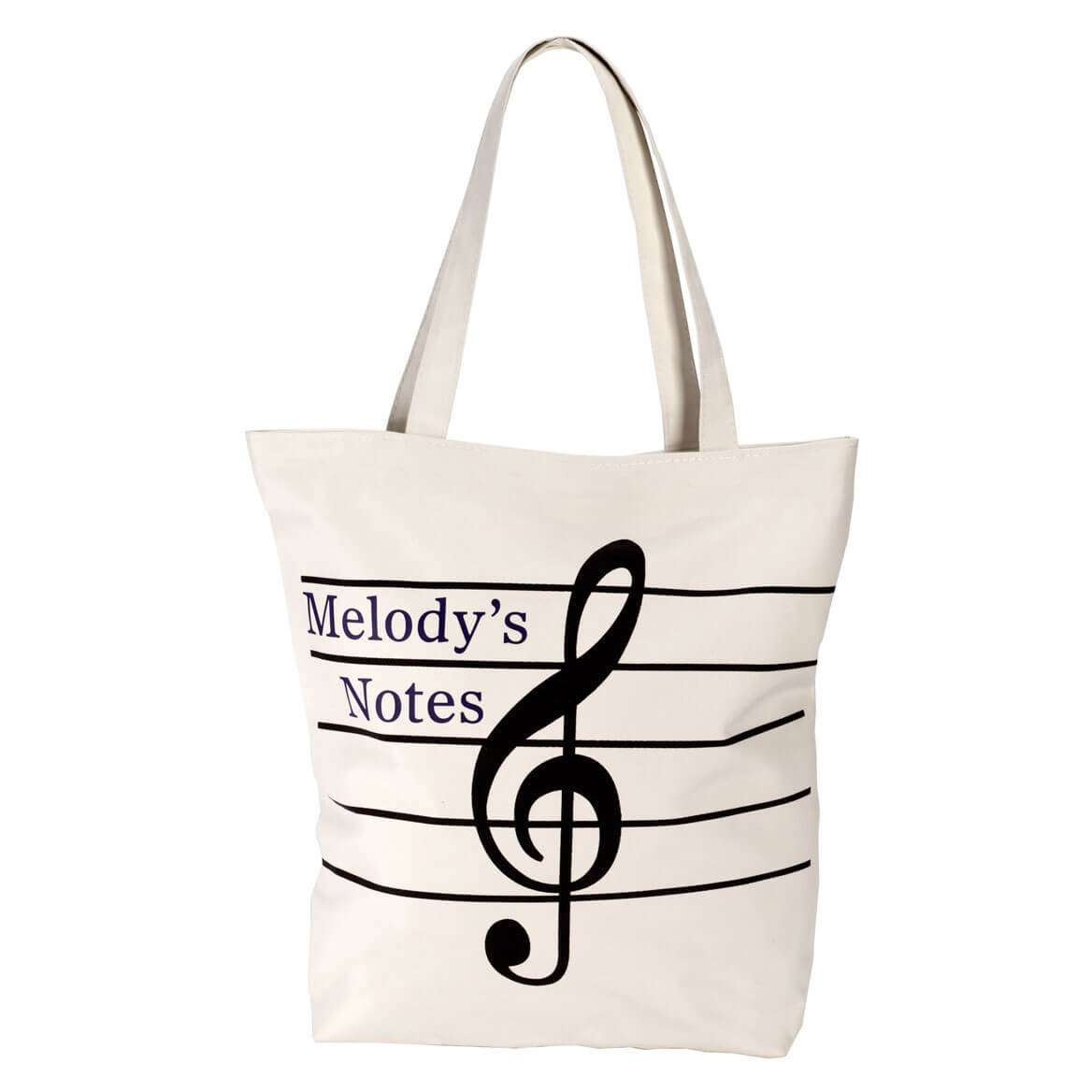 Personalized Musical Note Tote Bag