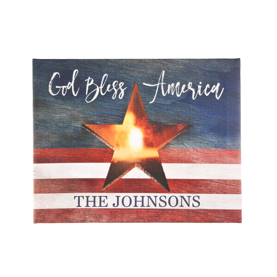 Personalized Flag Lighted Canvas by Northwoods Illuminations