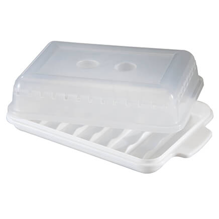 Microwave Sausage Cooker with Lid - Set of 2-359758  sc 1 st  Miles Kimball & Vented Microwave Cover - Microwave Dome Cover - Miles Kimball
