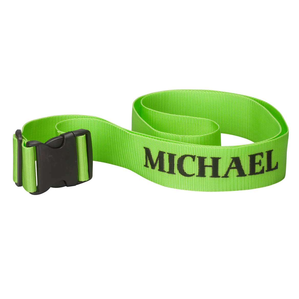 Personalized Green Luggage Strap