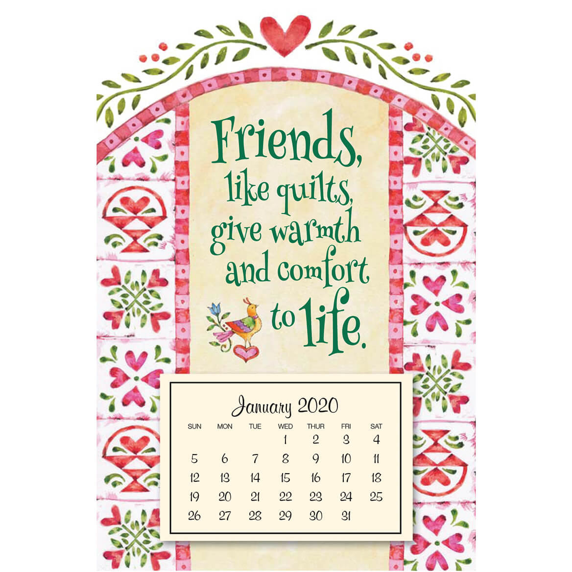 Mini Magnetic Quilts Calendar
