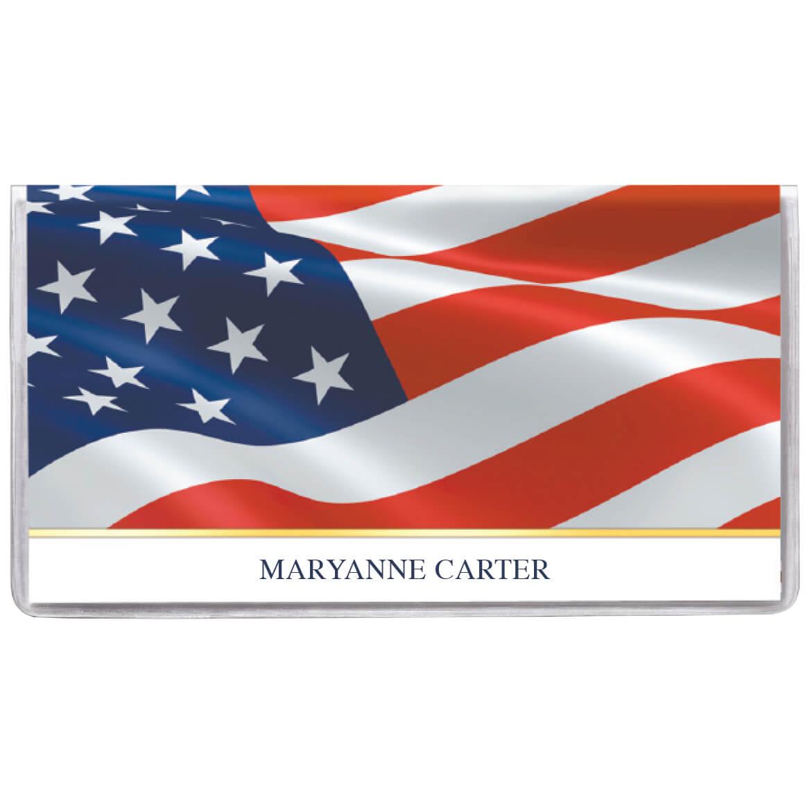 Personalized 2 Yr. Planner Patriotic Waving Flag