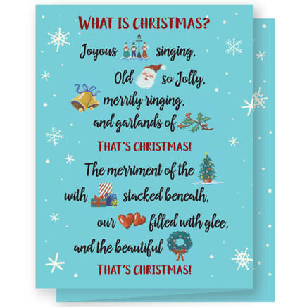 Card shoppe miles kimball personalized what is christmas cards set of 20 360161 reheart Image collections