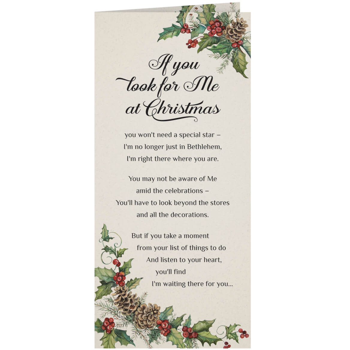 Personalized Looking for Jesus Christmas Cards - Set of 20