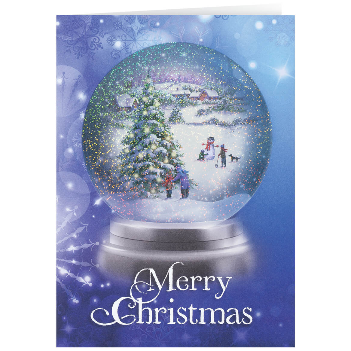 Personalized Winter Snowglobe Christmas Card Set of 20