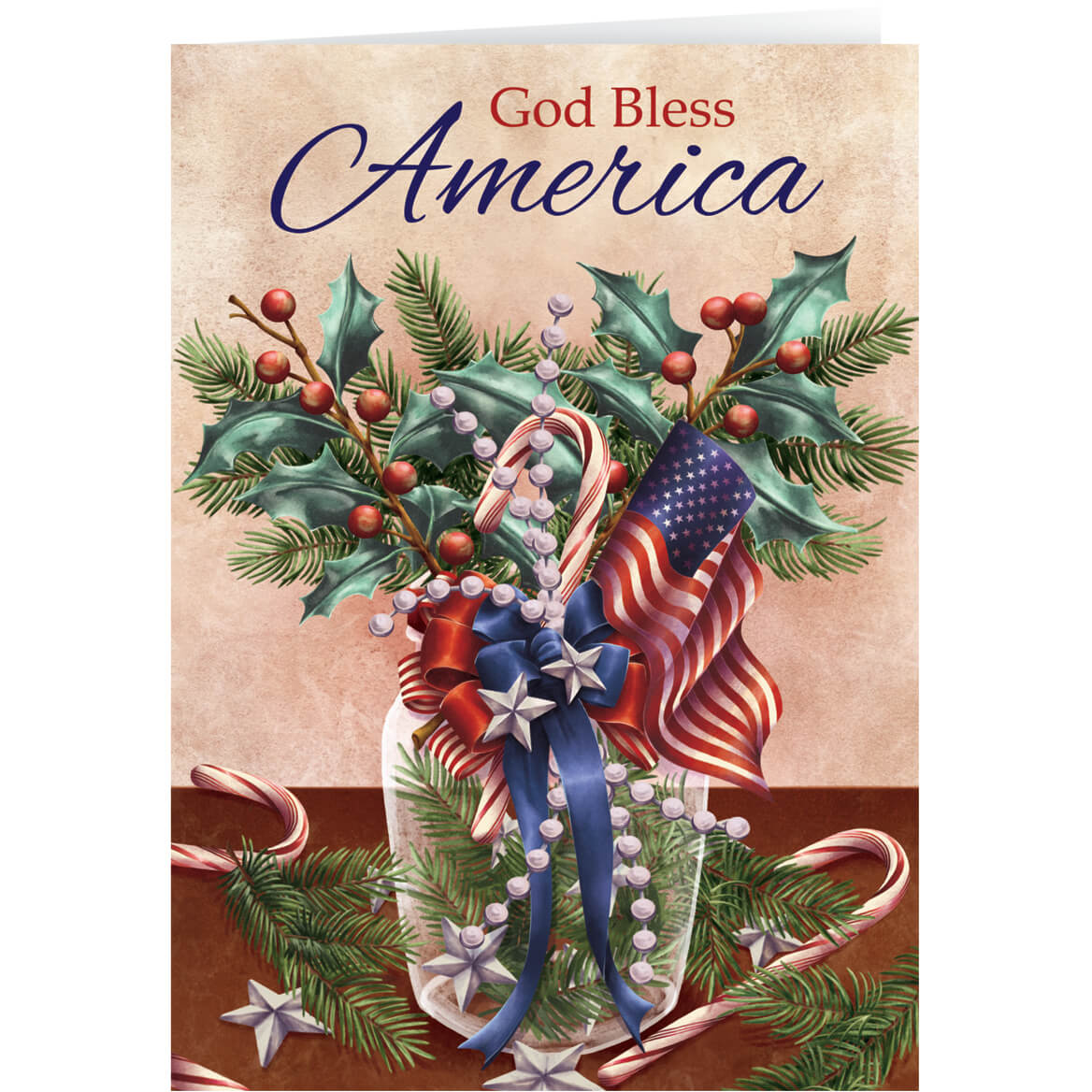personalized patriotic blessings bookmark christmas cards set of 20 - Patriotic Christmas Cards