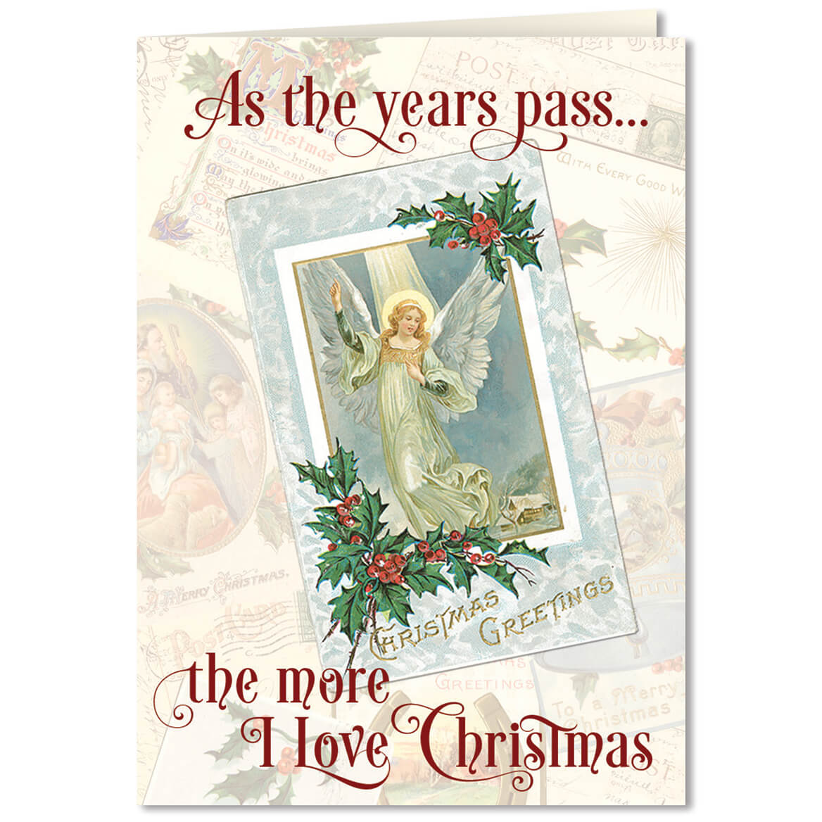 Personalized The More I Love Christmas Card Set of 20 - Miles Kimball